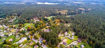 绿色欧洲空中风景  图库摄影