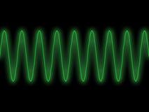 绿色正弦波 库存照片