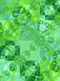 绿色正方形构造瓦片 免版税库存照片