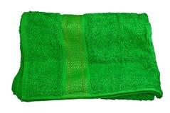 绿色毛巾 库存照片