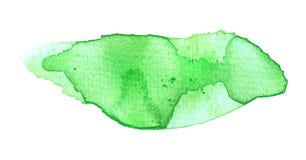 绿色水彩一滴 库存照片