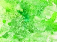 绿色水彩污点 库存图片
