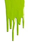 绿色水滴油漆 库存照片
