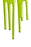 绿色水滴油漆 库存图片