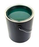 绿色油漆在加仑能 免版税库存照片
