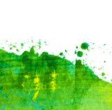 绿色油画滚纹理 免版税库存照片