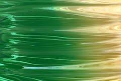 绿色波浪黄色 皇族释放例证