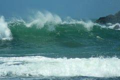 绿色波浪 免版税图库摄影