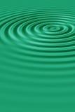 绿色波纹 库存图片