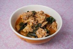 绿色波罗蜜咖喱, Kaeng Khanun 库存照片