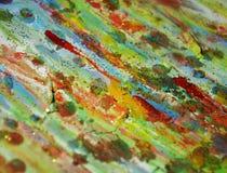 绿色泥,蓝色橙黄,抽象背景 免版税库存照片