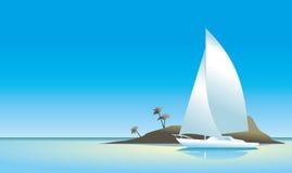 绿色海岛墙纸 图库摄影