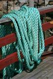绿色海洋绳索 免版税库存图片
