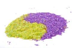 绿色淡紫色盐海运符号茶杨yin 库存照片