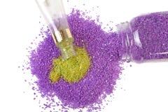 绿色淡紫色盐海运茶 免版税图库摄影