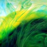 绿色混合油漆 库存图片