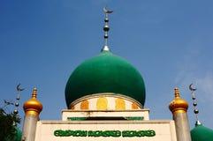 绿色清真寺 免版税库存图片