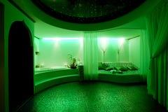 绿色温泉 免版税库存图片