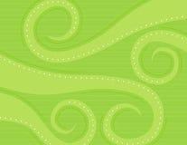 绿色漩涡 免版税库存图片
