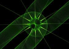 绿色激光背景 库存图片
