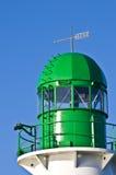 绿色灯塔 免版税库存照片