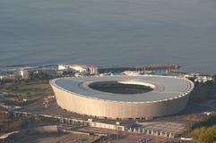 绿色点体育场开普敦Aereial视图  图库摄影