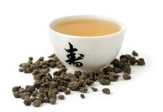绿色热茶 免版税库存照片