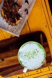 绿色热茶 库存照片
