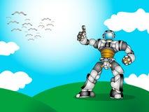 绿色爱自然机器人 皇族释放例证