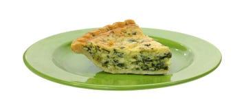 绿色牌照乳蛋饼服务菠菜 库存图片