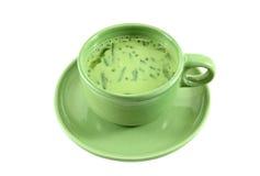 绿色牛奶混杂的大豆茶 免版税库存照片