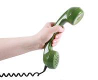 绿色现有量电话收货人 免版税库存照片