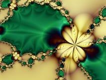 绿色珍珠浪漫黄色 免版税库存图片