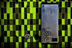 绿色瓦片 库存图片