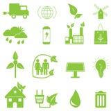 绿色生态图标 免版税库存图片