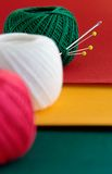 绿色生活红色仍然染黄 免版税库存图片