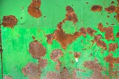 绿色生锈的金属纹理背景 免版税库存图片