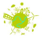 绿色生活地球向量 库存图片