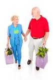 绿色生活方式前辈顾客 免版税库存照片