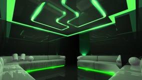 绿色电子豪华空间 库存图片
