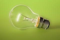 绿色电灯泡 库存图片