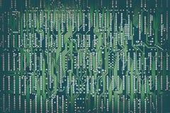 绿色电路板的后侧方 免版税库存照片