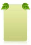 绿色留下明信片 免版税库存图片