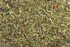 绿色留下茶纹理 免版税图库摄影