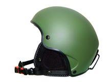 绿色盔甲滑雪 图库摄影