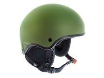 绿色盔甲滑雪 库存照片