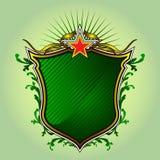 绿色盾 库存照片