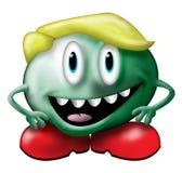绿色矮小的妖怪 库存例证
