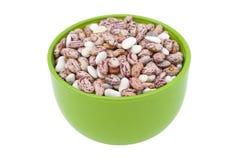 绿色碗用豆 免版税库存图片
