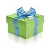绿色礼物盒 免版税库存图片